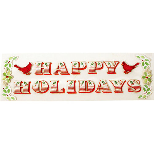 Martha Stewart Crafts - Holiday - Stickers - Traditional Happy Holidays