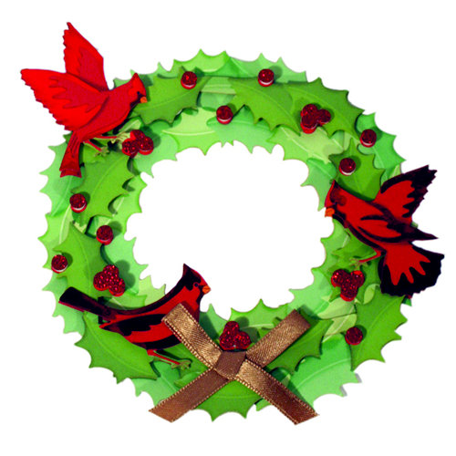 Martha Stewart Crafts - Holiday - Stickers - Large - Wreath, CLEARANCE