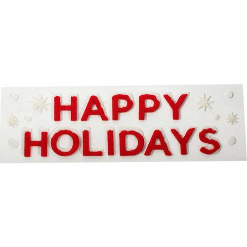 Martha Stewart Crafts - Holiday - Stickers - Vintage Merry Christmas