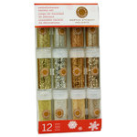 Martha Stewart Crafts - Holiday - Glitter Embellishment Variety - 12 Piece Set - Golden Woodland, BRAND NEW
