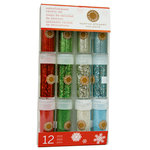 Martha Stewart Crafts - Holiday - Glitter Embellishment Variety - 12 Piece Set - Gingerbread