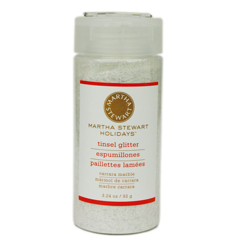 Martha Stewart Crafts - Holiday - Tinsel-Cut Glitter - Large Bottle - Carrera Marble