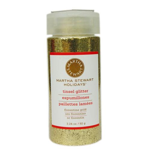 Martha Stewart Crafts - Holiday - Tinsel-Cut Glitter - Large Bottle - Florentine Gold