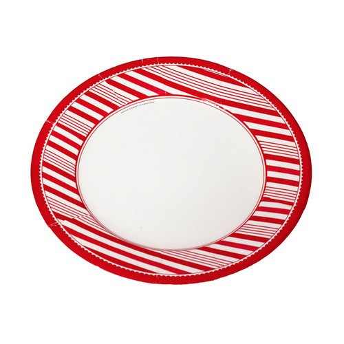 Martha Stewart Crafts - Holiday - Large Plate - Candy Cane, CLEARANCE