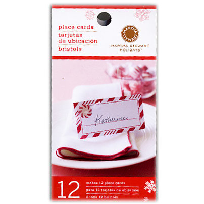 Martha Stewart Crafts - Holiday - Place Cards - Candy Cane, BRAND NEW