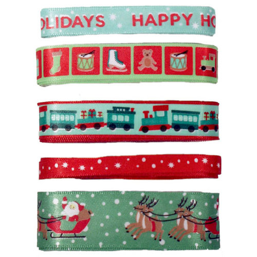 Martha Stewart Crafts - Holiday - Adhesive Ribbon Pack - Vintage, BRAND NEW