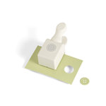 Martha Stewart Crafts - Double Craft Punch - Medium - Embossed Button