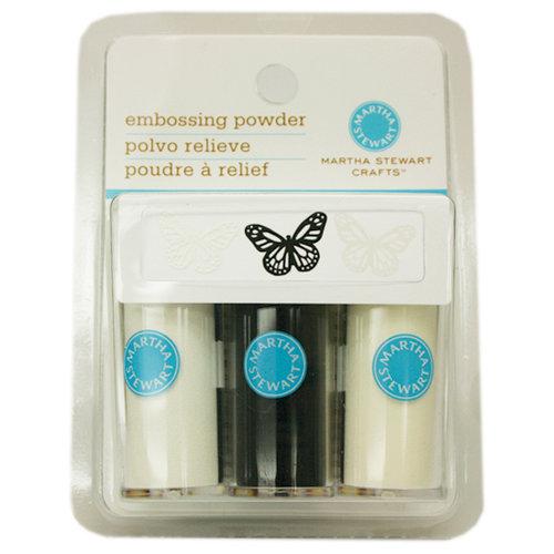 Martha Stewart Crafts - Embossing Powder - Essentials - 3 Piece Set