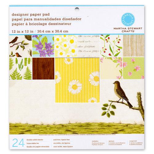 Martha Stewart Crafts - 12 x 12 Designer Paper Pad - Nature