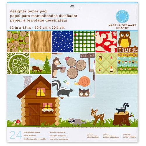 Martha Stewart Crafts - 12 x 12 Designer Paper Pad - Woodland Critters