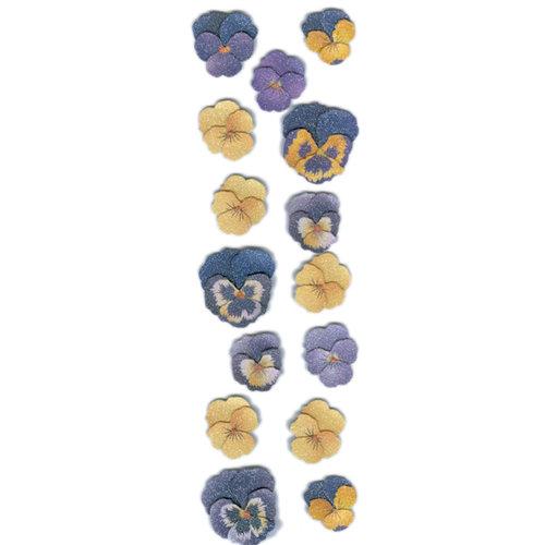 Martha Stewart Crafts - 3 Dimensional Sugar Bead Stickers - Pansy, CLEARANCE