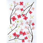 Martha Stewart Crafts - Stickers with Beaded Flower Centers - Dogwood