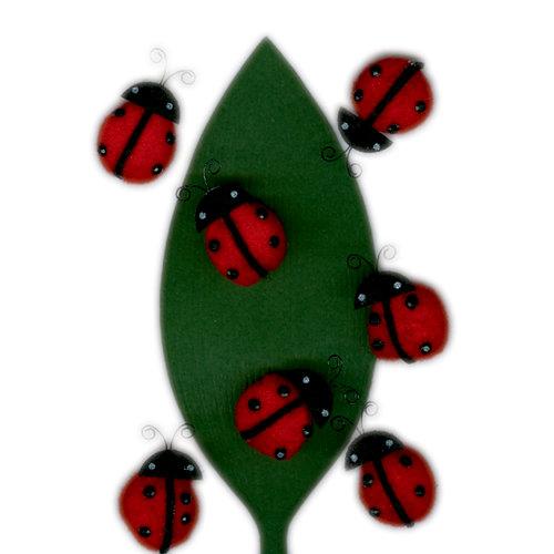 Martha Stewart Crafts - Pom Pom Stickers - Ladybug, CLEARANCE
