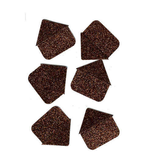 Martha Stewart Crafts - Glitter Photo Corners - Brownstone, CLEARANCE