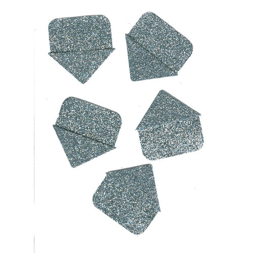 Martha Stewart Crafts - Glitter Photo Corners - Silver , CLEARANCE