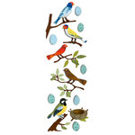 Martha Stewart Crafts - 3 Dimensional Glittered Stickers - Bird