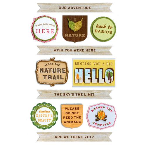 Martha Stewart Crafts - 3 Dimensional Stickers - Woodland Phrases