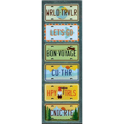 Martha Stewart Crafts - Embossed Stickers - License Plates