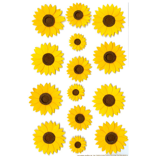 Martha Stewart Crafts - Glossary Stickers - Sunflowers