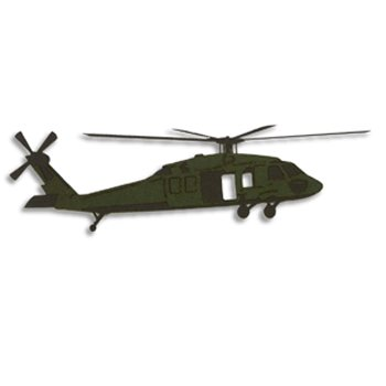 Memories In Uniform - Laser Cut - Army UH-60 Blackhawk, CLEARANCE