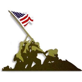Memories In Uniform - Laser Cut - Marine Corps World War II Marine Flag Raising Iwo Jima