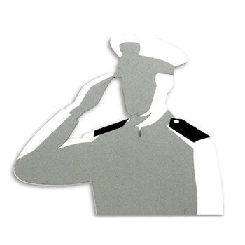 Memories In Uniform - Laser Cut - US Navy Hero Male Officer Chief