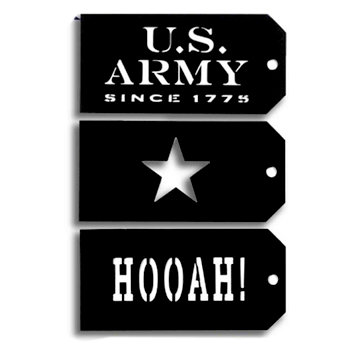 Memories In Uniform - Laser Cut - Army Tag Set