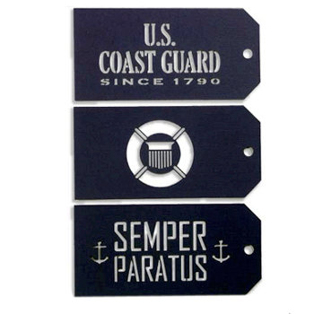 Memories In Uniform - Laser Cut - Coast Guard Tag Set