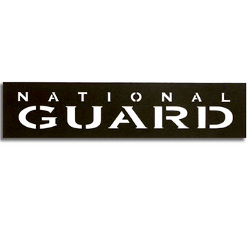 Memories In Uniform - Laser Cut - National Guard Title