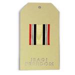 Memories In Uniform - Laser Cut - Iraqi Freedom Service Tag