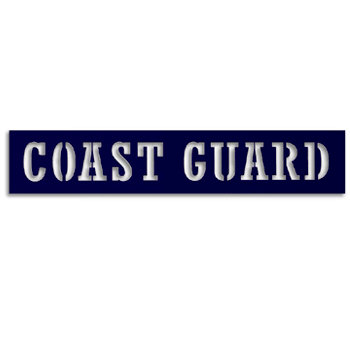 Memories In Uniform - Laser Cut - Coast Guard Title