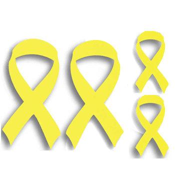 Memories In Uniform - Laser Cut - Yellow Ribbon