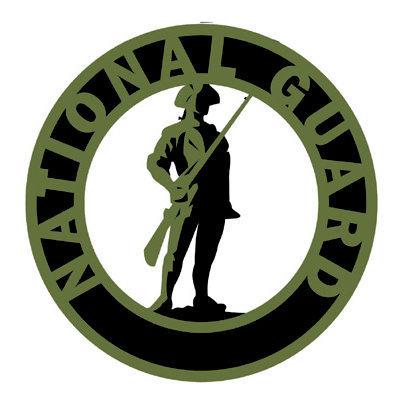 Memories In Uniform - Laser Cut - National Guard Emblem