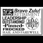 Memories In Uniform - Rub Ons - Bravo Zulu, CLEARANCE