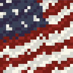 Memories In Uniform - Paper - Red White and Blue Digital Camouflage