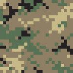 Memories In Uniform - Paper - Green Pixel 2 Camouflage