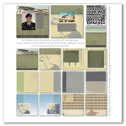 Memories In Uniform - Military Scrapbook Page Kit - Current Operations
