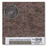 Combat Creations - Memories in Uniform - 12 x 12 Paper Kit - USMC-D Camouflage