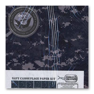 Combat Creations - Memories in Uniform - 12 x 12 Paper Kit - Navy Camouflage