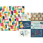 Simple Stories - Crafty Girl Collection - 12 x 12 Double Sided Paper - 4 x 6 Horizontal Elements