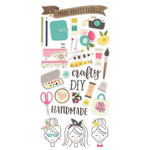 Simple Stories - Crafty Girl Collection - Chipboard Stickers