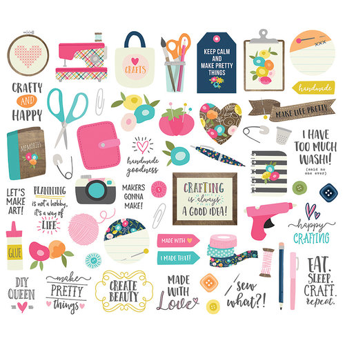 Simple Stories - Crafty Girl Collection - Bits and Pieces