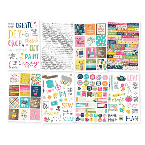 Simple Stories - Crafty Girl Collection - Cardstock Stickers