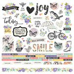 Simple Stories - Bliss Collection - 12 x 12 Cardstock Stickers - Combo