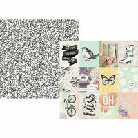 Simple Stories - Bliss Collection - 12 x 12 Double Sided Paper - 3 x 4 Elements
