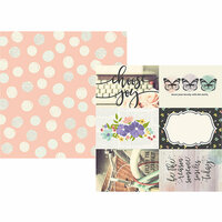 Simple Stories - Bliss Collection - 12 x 12 Double Sided Paper - 4 x 6 Elements