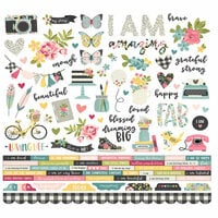Simple Stories - I Am Collection - 12 x 12 Cardstock Stickers - Combo