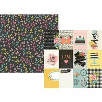Simple Stories - I Am Collection - 12 x 12 Double Sided Paper with Foil Accents - 3 x 4 Elements