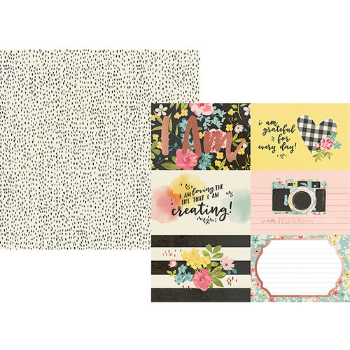 Simple Stories - I Am Collection - 12 x 12 Double Sided Paper with Foil Accents - 4 x 6 Horizontal Elements