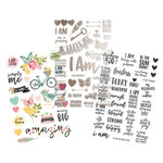 Simple Stories - I Am Collection - Clear Stickers with Foil Accents